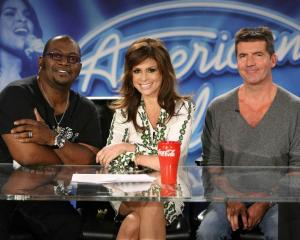 Losing it? In this 2008 image American Idol judges, from left, Randy Jackson, Paula Abdul and...
