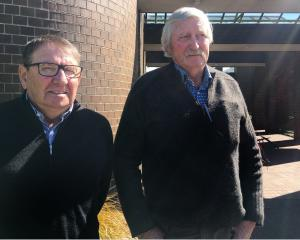 Southern farmers Bryce McKenzie (left) and Laurie Paterson told Environment Southland councillors...