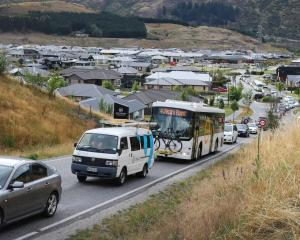 Drivers backed up in Queenstown suburb Shotover Country. Road transport accounts for 39% of the...