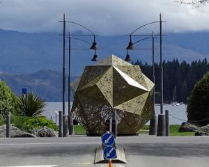 This art installation appeared at the intersection of Ardmore and Helwick Sts in Wanaka on...