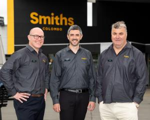 Smiths chief executive Tony Allison (left) and chief operating officer Scott Dawson and Polar...