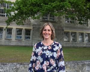 Liz Koni was inducted into her new role as Waitaki Girls' High School principal yesterday. PHOTO:...
