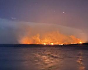 Dunedin man Andy Winneke caught sight of the blaze from where he was camping with his family....