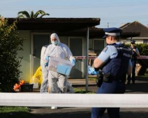 Police at the scene in Otara last week. Photo: NZ Herald