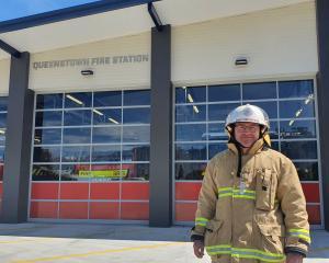Queenstown Chief Fire Officer Terry O'Connell outside the refurbished station on 
