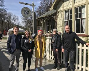 Pictured in Arrowtown yesterday are (from left) Queenstown Lakes District Council Arrowtown ward...