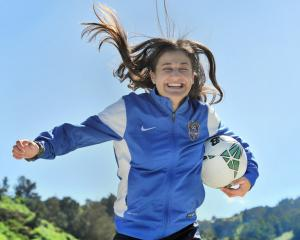 New Southern United captain Rose Morton shows her enthusiasm at the opening weekend of the...