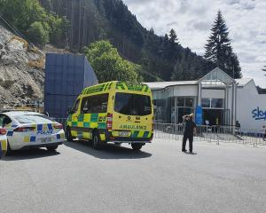 Emergency services at the scene near the Skyline gondola. Photo: Matthew Mckew