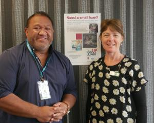 South Dunedin-based Community Finance worker Lloyd Maole and team leader Mel Aicken in their new...