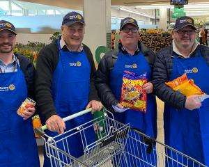 Rotary Dunedin South members (from left) Ricky Cockerill, Gary Williams, Moray McKenzie and John...