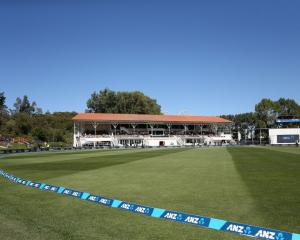 The University Oval before its test between New Zealand and South Africa earlier this year. Photo...