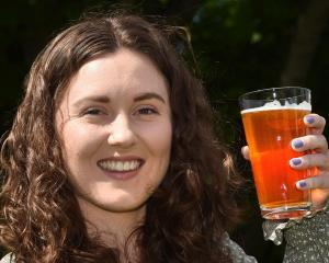 Dunedin food science hops researcher Victoria Purdy with a craft beer. PHOTO: GREGOR RICHARDSON