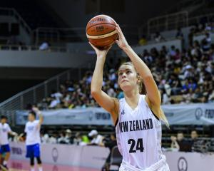 Otago's Zoe Richards in action for the Tall Ferns on her debut tour in Taiwan last year. PHOTO:...