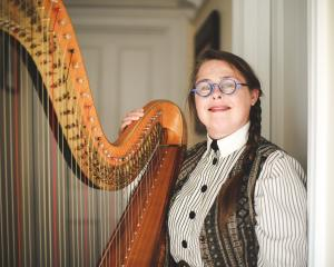 Christchurch Symphony Orchestra principal harpist Helen Webby. PHOTO: SUPPLIED