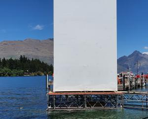 It is thought this temporary structure on Queenstown waterfront will be where Xbox will project a...