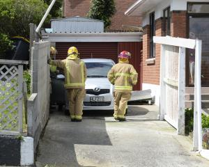 Firefighters were called to this Dunedin house in Gloucester St,  Anderson's Bay, after winds...
