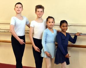 Bennett School of Ballet and Jazz dance pupils (from left) Matthew Lemon, Asher Armstrong, Lydia...