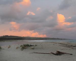 The beach at Toko Mouth at sunset. PHOTOS: JEFF KAVANAGH