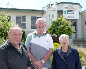 Balclutha residents (from left) Garth Carter, Jack Hoekstra and Barbara Carter say they are among...