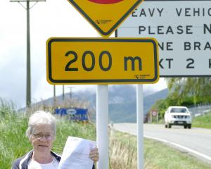 West Otago Community Board chairwoman Barbara Hanna holds a letter from the NZ Transport Agency...