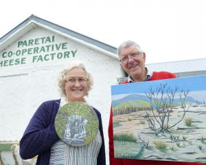 Former horticulturists Beth and Peter Linklater prepare for the weekend opening of their new art...
