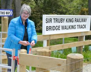 Heritage New Zealand assessment adviser Sarah Gallagher, of Dunedin, opens the Sir Truby King...