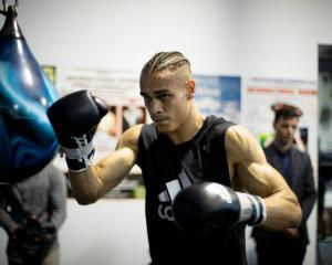 David Nyika at training. Photo: Dean Purcell / NZ Herald
