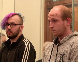 Jamie Burns (left) and Jarrod Michelle pleaded guilty to the burglary of St Dominic's Priory....