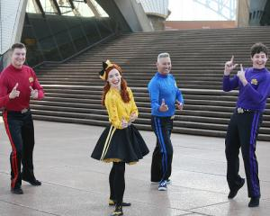 Simon Pryce, Emma Watkins, Anthony Field and Lachlan Gillespie of The Wiggles. Photo: Getty Images