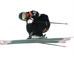 Byron Wells warms up before the men's ski halfpipe at Phoenix Snow Park at Pyeongchang-gun, South...
