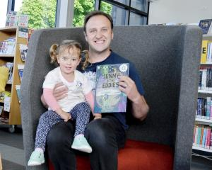 Oxford doctor Richard Clinghan with his daughter Alba, 2, during his recent talk at the Kaiapoi...