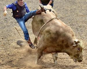 Lawrence bull rider Jimmy Longley came out of retirement on Saturday to compete in the Mad Bull...