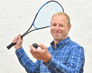 New Squash New Zealand chief executive Martin Dowson at the Squash Otago courts yesterday. PHOTO:...