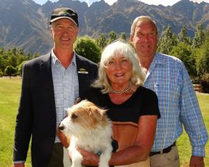 Remarkables Station owners Jillian and Dick Jardine, pictured with trust chairman Bruce Wills ...