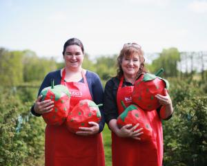 Looking forward to next month's A Berry Affair are Butler's Berry Farm & Cafe cook and jam...