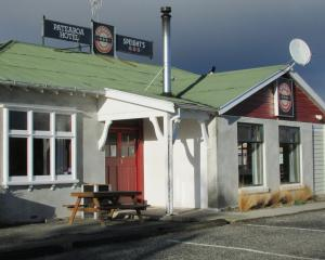 """A day of clouds and thick darkness"". Zephenia 1:15. The Patearoa Hotel during its closure. PHOTO..."