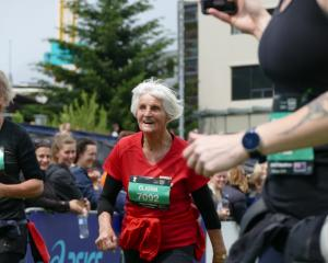 The oldest competitor in the event was half-marathon entrant Clasina Van der Veeken (89), of...