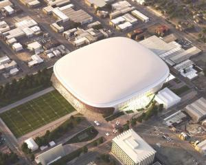 An artist's impression of the Canterbury multi-use arena. Photo: Supplied