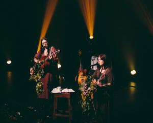 Nadia Reid and Hollie Fullbrook perform tomorrow at the Regent Theatre. PHOTO: EBONY LAMB