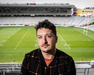 Six60 lead singer Matiu Walters at Eden Park. Photo: NZ Herald