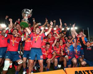 Tasman beat Auckland in the final of this year's Mitre 10 Cup. Photo: Getty Images