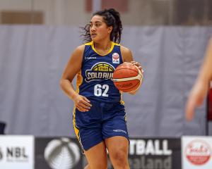 Te Araroa Sopoaga handles the ball on debut for the Otago Gold Rush during its National...