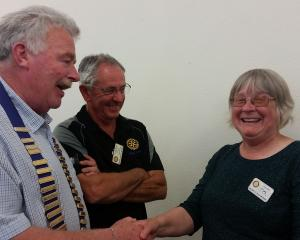 Congratulating Jo Steffensen after she was given a ''Doing good in the community'' award are...