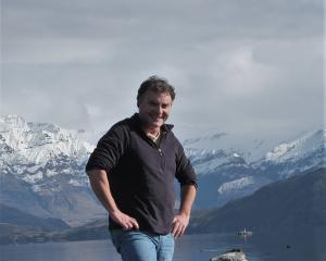 Chris Arbuckle, of Aspiring Environmental and Touchstone, at Beacon Point Lake Wanaka. PHOTO:...