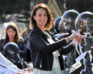 Arai Te Uru Whare Hauora family violence social worker Sophie Taele celebrates White Ribbon Day...