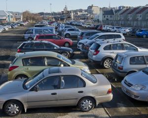 The St Andrew St car park was full this week. PHOTO: GERARD O'BRIEN