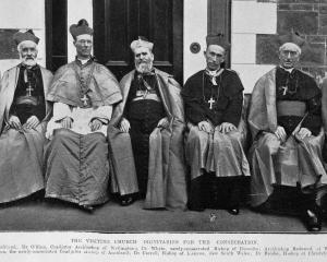 Consecration of two Catholic bishops at St Joseph's Cathedral, Dunedin (from left) Bishop of...