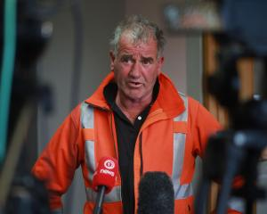 Fire and Emergency New Zealand incident controller Graeme Still briefs media during the early...