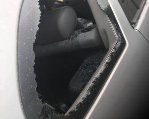Thieves smashed their way into this car on Roblyn Place, Lincoln, getting away with a bluetooth...
