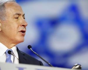 Israel's Prime Minister Benjamin Netanyahu  addresses the American Israel Public Affairs...